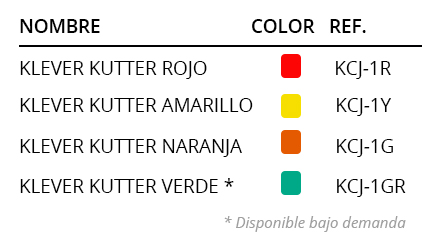 Referencias colores Klever Kutter